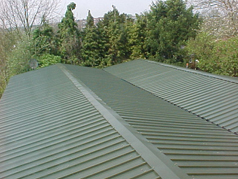 Overcladding is mainly used on commercial pitched roofs where it is safe to keep the existing sheeting in place