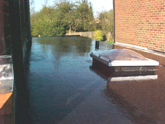 EPDM provides the roof with a completely new finish